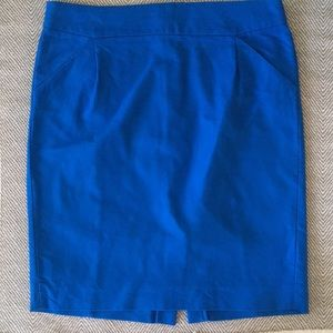 J.Crew Cerulean Pencil Skirt.
